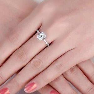 Jewelry - Emerald Cut Milgrain Halo Style Engagement Ring